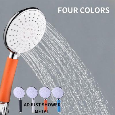 High Pressure Shower Head ABS Water Saving Rainfall Chrome Pressurized Nozzle