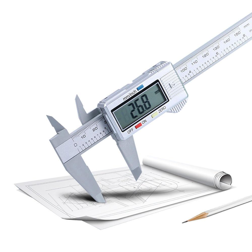 "6/"" 150mm Carbon Fiber Electronic Digital Vernier Caliper Micrometer Guage LCD US"