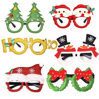 Christmas Gift Adult Children's Toys Santa Claus Snowman Glasses Christmas Decoration Glasses