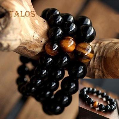 Men/'s Women/'s Jewelry Agate Tiger Eye Beads Bangle Bracelet New Arrival