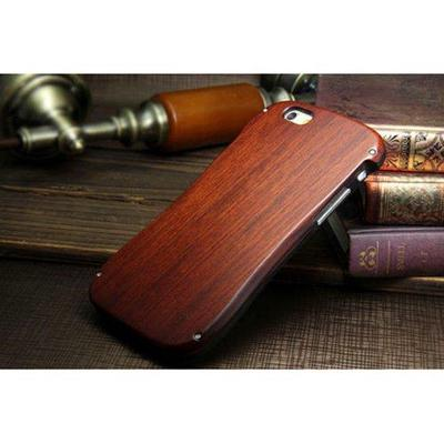 Case for iphone 6 aluminum metal bumper wood back plate cover 4.7inches