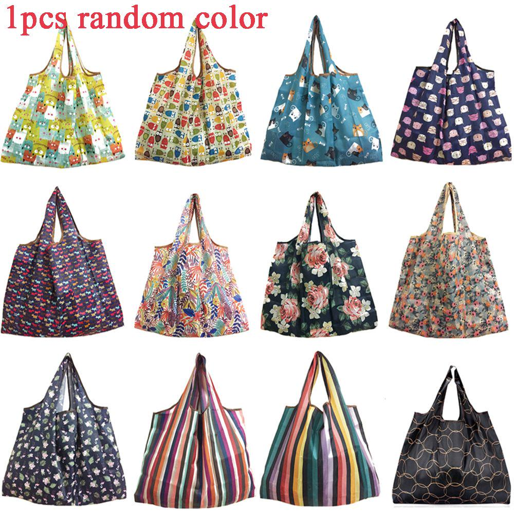Tote Foldable Reusable Shopping Bags Recycle Handbags Pouch Storage Bag