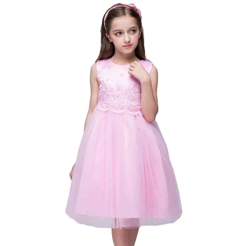 Vestidos de fiesta de los niños niñas granos artificiales sin mangas ...