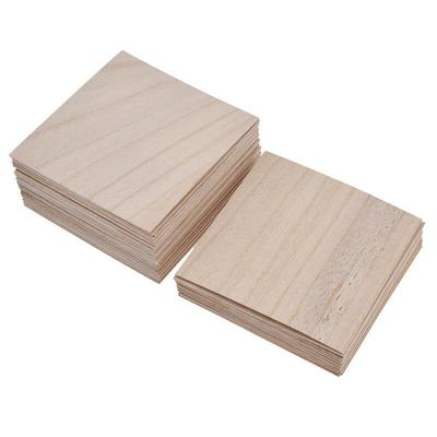 5pcs 100x100x2mm Wooden Board Plate Woodworking Supply for Models and Crafts