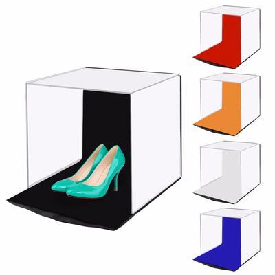 Portable Photo Studio Lighting Cube Tent Kit 40CM Soft Light Box /& 4 Backgrounds