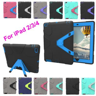 f9d7dc8234 Heavy Duty Rugged Shockproof Armor Case Cover Hybrid Stand For iPad 2/3/4