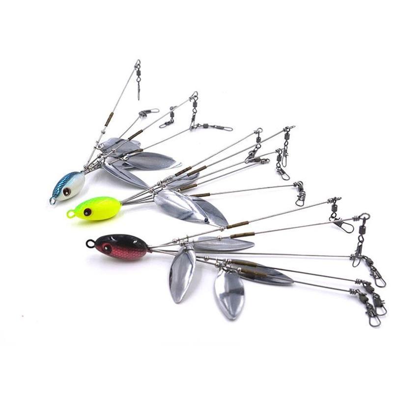 Lot 2-10 PCs 5 Arms 4 Blades Umbrella Alabama Rig Bass Crappie Lure Fishing Bait
