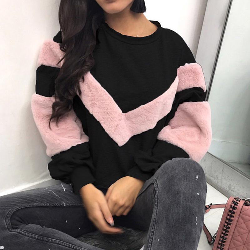 Womens Long Sleeve Hoodie Sweatshirt Hooded Jumper Sweater Pullover Casual Tops