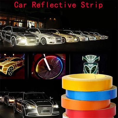 Car Auto Motorcycle Reflective Strip Safety Warning Tape Sticker 1CMx5M