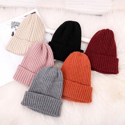 Women Men Solid Color Plain Beanie Warm Ski Cap Fall Winter Alien Knited Hats US