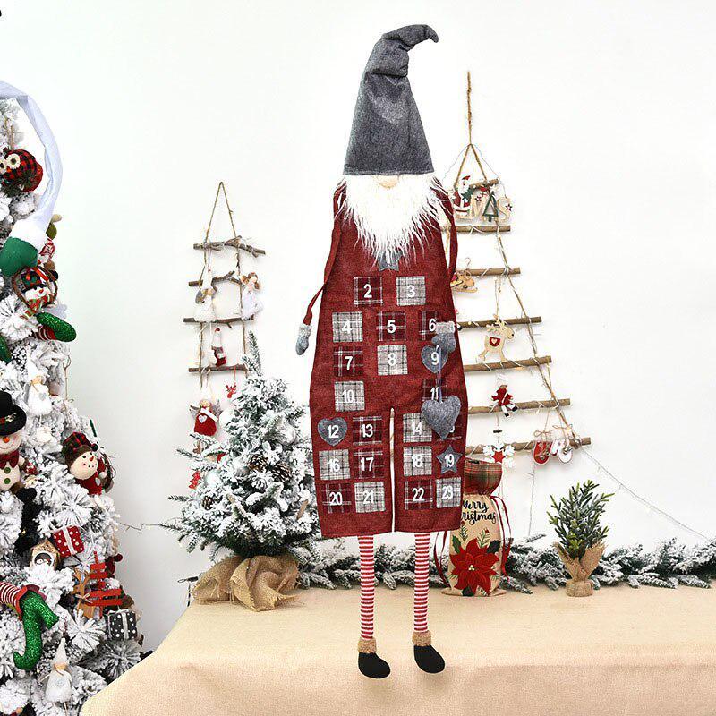 Natale 2021 Calendario.2021 Nuovo Natale Conto Alla Rovescia Calendario Dell Avvento Natale Hanging Ornament Santa Linen Countdown Door Home Decoration Acquistare A Basso Prezzo Nel Negozio Online Joom