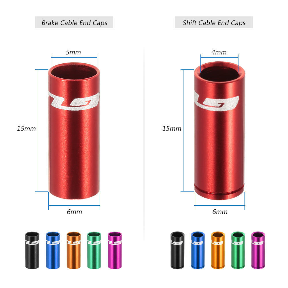 Shifter Cable Housing End Cap Ferrules 4mm Pack of 10-6 colors