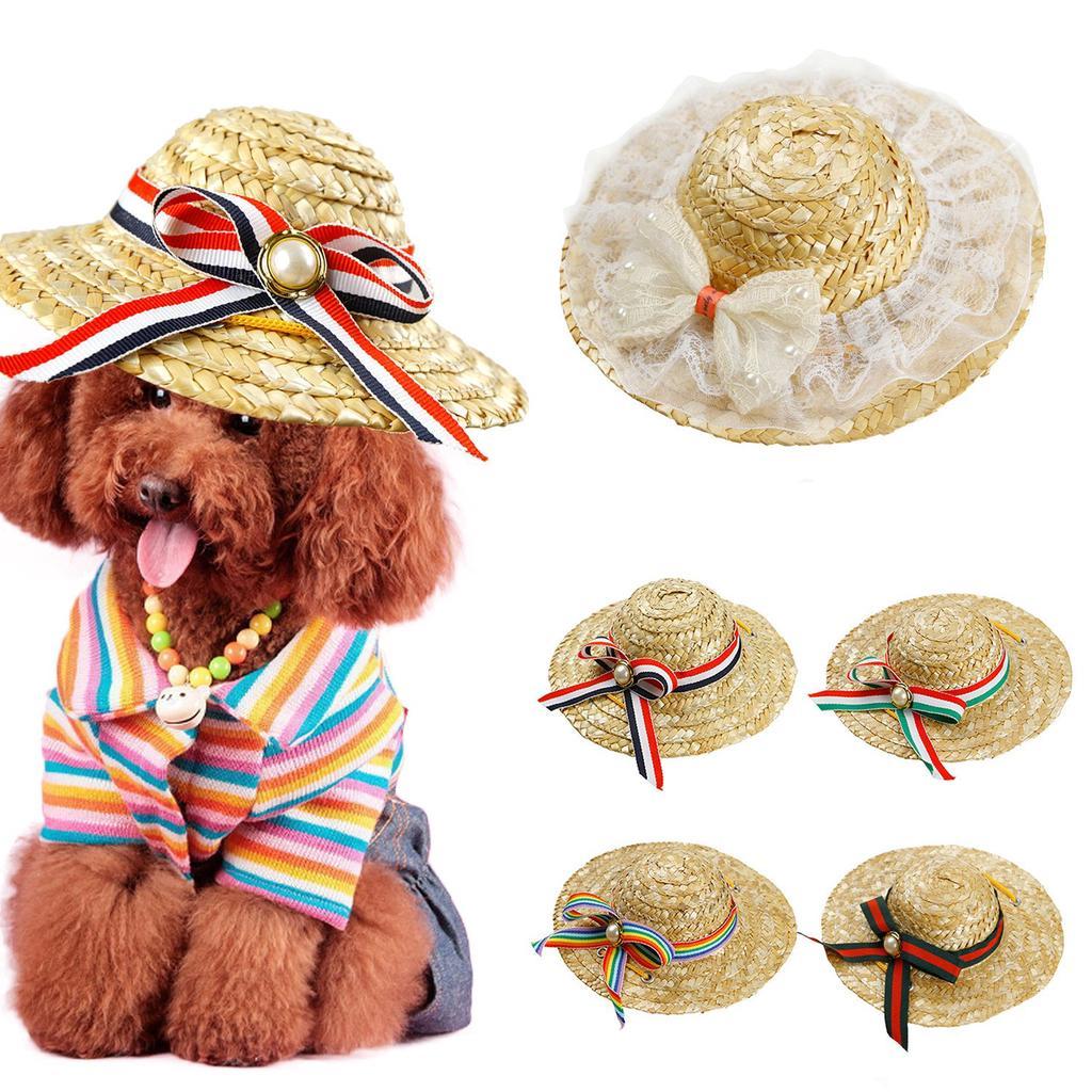 Gorro de mascota 1 PC cachorro de perro gato sombrero de copa sombrero para  el sol playa hawai estilo perro mono b01bcf77e3a