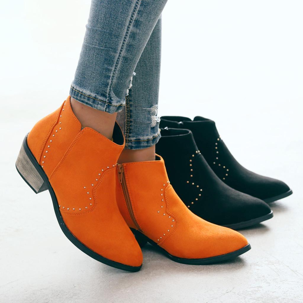 Compre Botas De Inverno Casal Homem Sapatos Estilo Casual Dedo Do Pé Redondo Ankle Boots Botas Boot Flats Masculino Neve Masculino Bota Masculina
