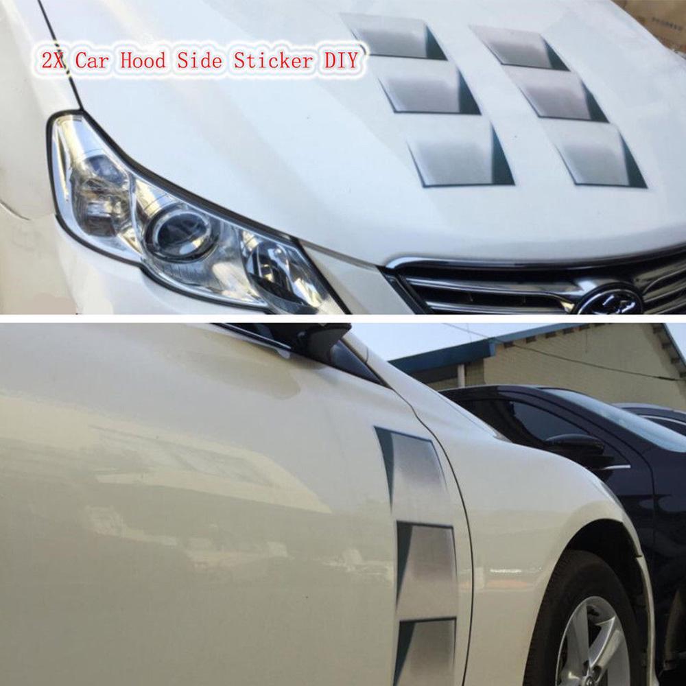 Vivid 3D SUV Car Decoration Hood Fender Vent Air Stikcer Universal Decal 1PCS