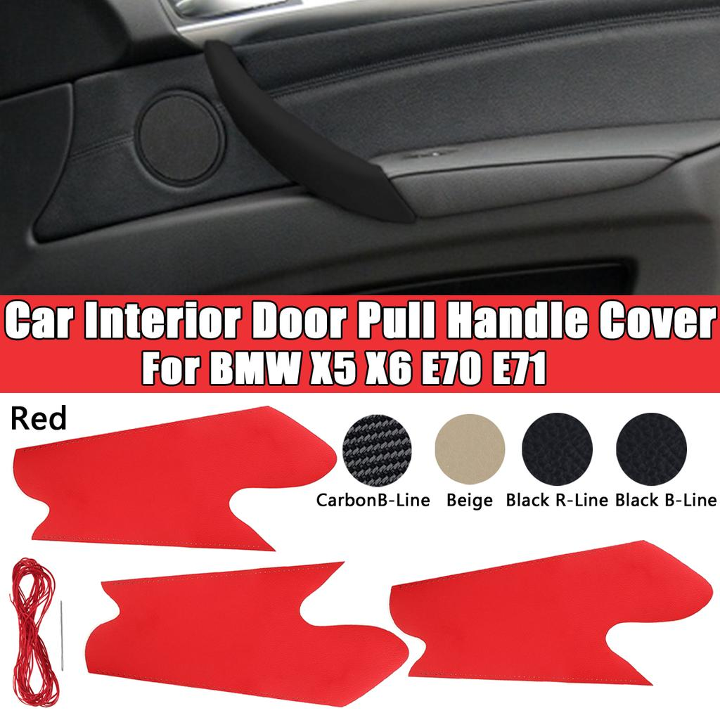 5 Color Car Interior Door Pull Handle Protective Cover Front Rear Left Right For Bmw X5 X6 E70 E71 Buy At A Low Prices On Joom E Commerce Platform