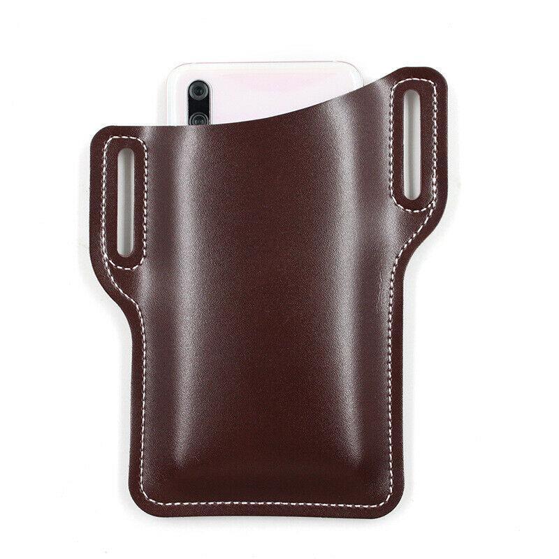 Men Waist Bag Props Leather Purse Phone Wallet Cellphone Loop Holster Case Be/_fr