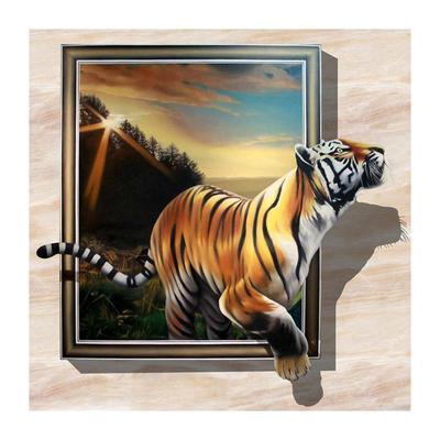 1928a8f26f9906 Bieganie Tiger 5D DIY pełne wiertło okrągły diament malarskie zestawy do  haftu prezent
