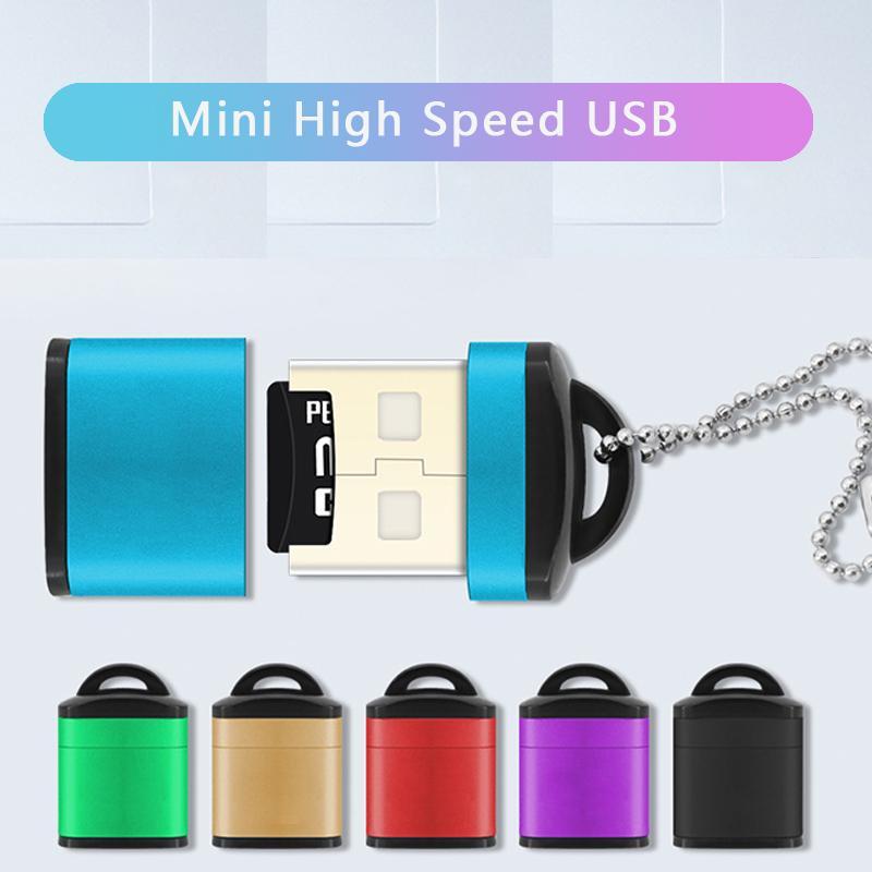 Мини Keychain Мобильный телефон USB Памяти Карты Reader для Micro SD / TF высокоскоростной карты Чтения Адаптер фото