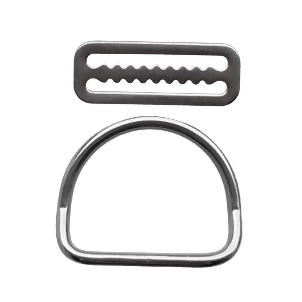 Schnallen Taschen Geldbörsen Gürtel D-Ringe Silber 20pcs Loop Ring Praktisch