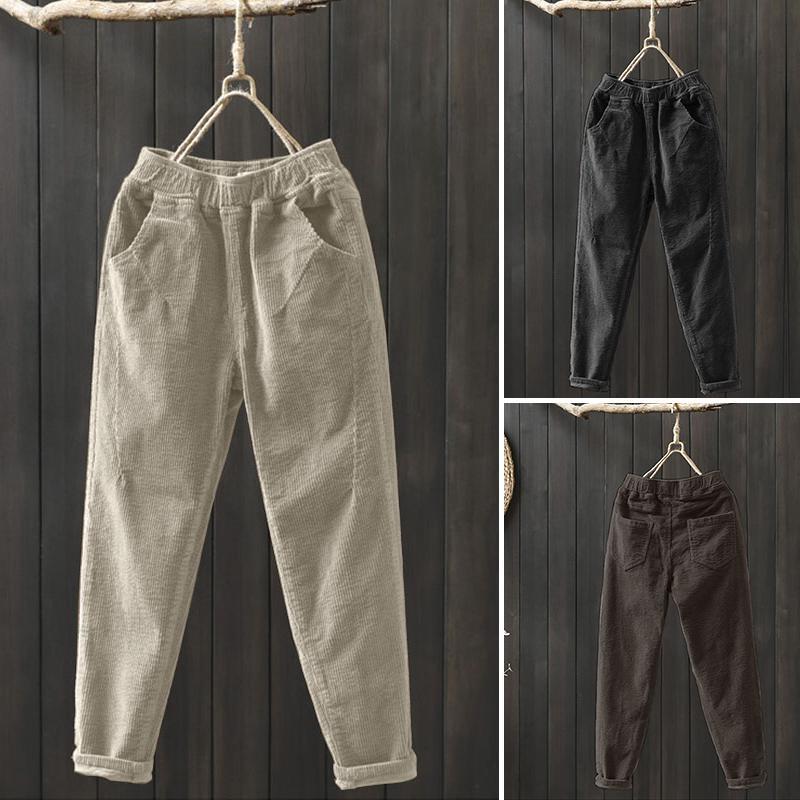 Демисезонные женские брюки ZANZEA в стиле Гарелем, размеры S-5XL фото