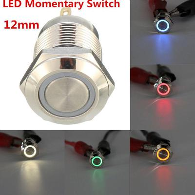 2Pcs 19mm LED Button Switchs Fan Momentary Switches For Car Boat Dashboard Panel
