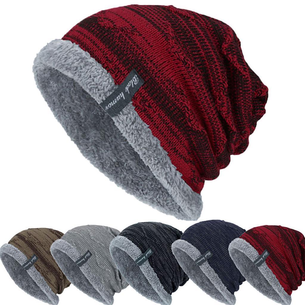 Unisex Headscarf Bonnet Hat Solid Wool Cap Head Cover Cap Knitted Hat Warmer Hat