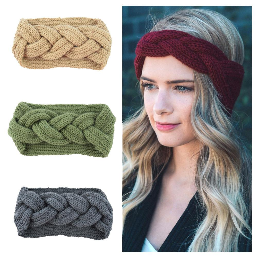 Winter Headband Cozy Winter Fashion Headband Turban Style Headband Warm Knit Winter Earwarmer