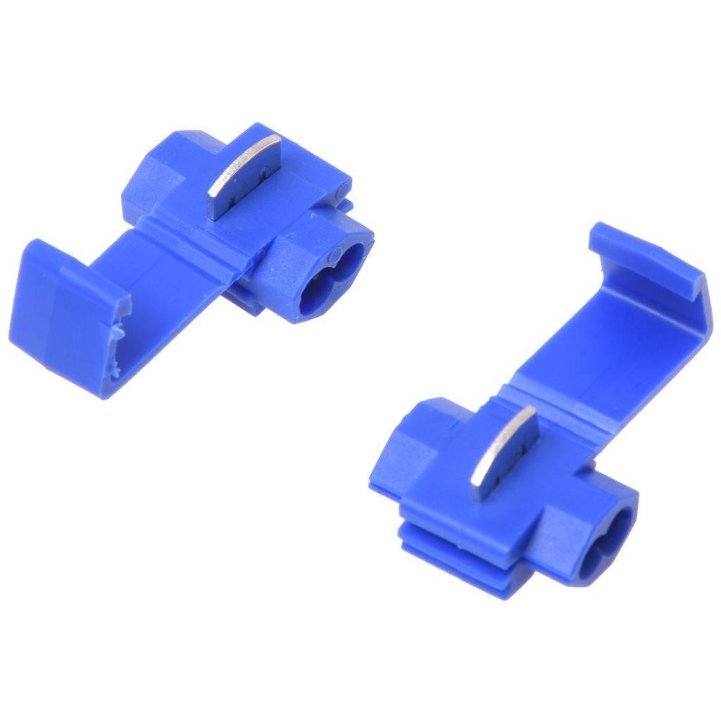 50 Stücke Blau Elektrische Lock Drahtverbinder Schnellverbinder Crimp Zubehör