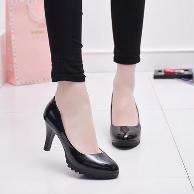 b27416bcd Случайные 6 см каблуках обувь офис обуви леди платье насосы женщин обувь  черный зрелых женщин высокие