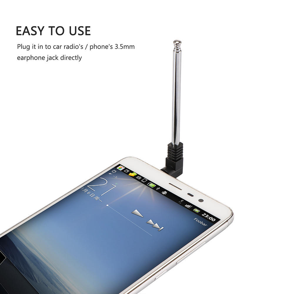 1x Universal 3.5mm Retractable FM Radio Telescopic Antenna For Mobile Cell Phone
