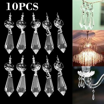 Colorful Chandelier Glass Crystals Lamp Prisms Hanging Drops Pendants DIY Decor