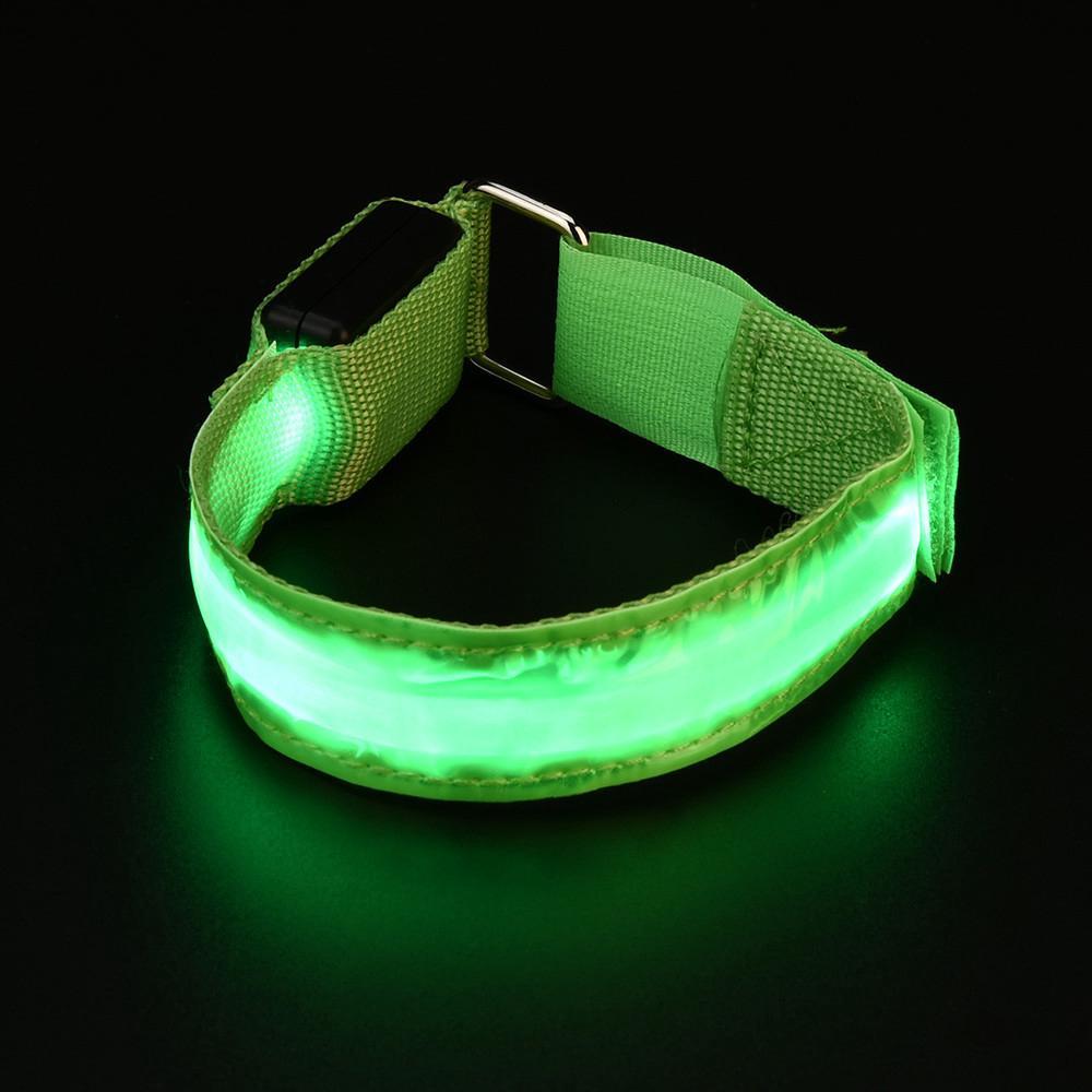 2 Reflective arm bands Jambe Sangle Vélo Sécurité Pantalon Ceinture chien Glow Bracelet