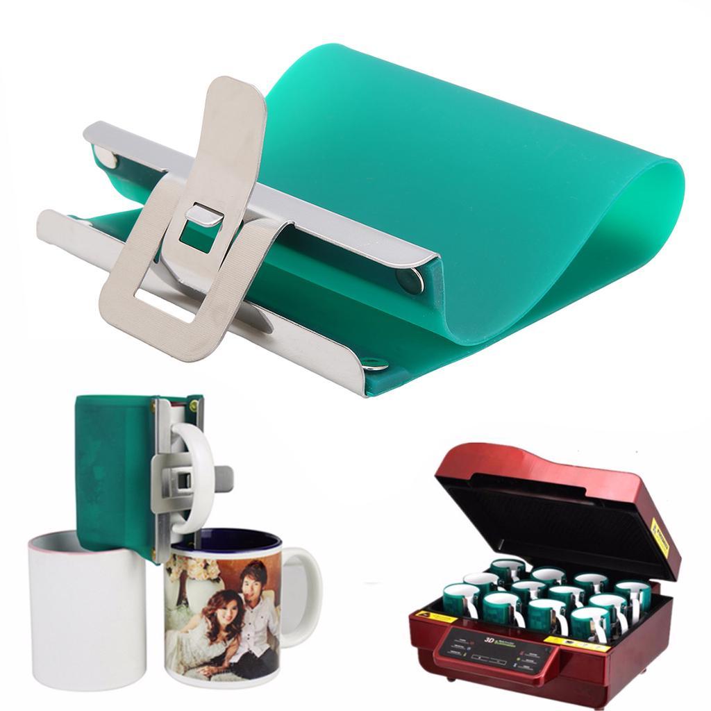 PYD Life 3D Mug Transfer Wrap Clamp for Sublimation Blanks Mug Printing 11 OZ Silicone Mug Mold in Oven 4 PCS