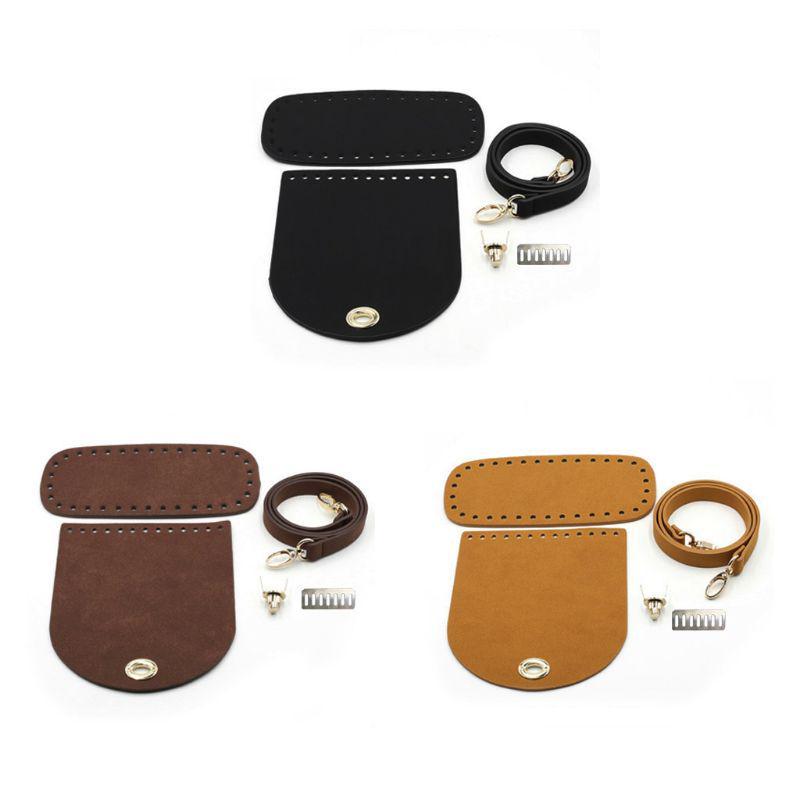 3pcs Leather Bag Accessories DIY Replacement Handbag Handle Short Strap 60cm