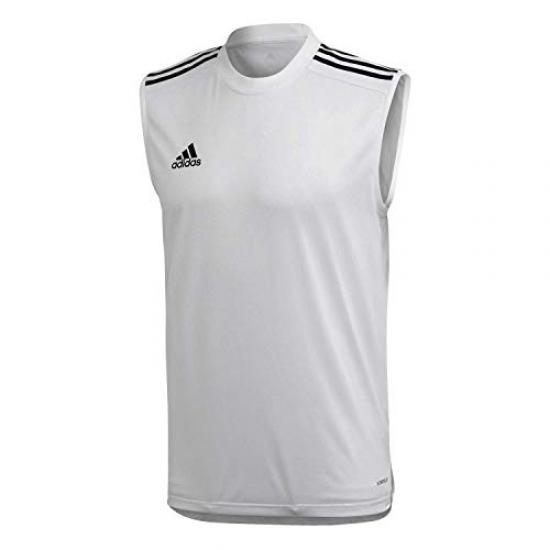 Buy Adidas condivo 20 sleeveless jersey training jersey men, white ...