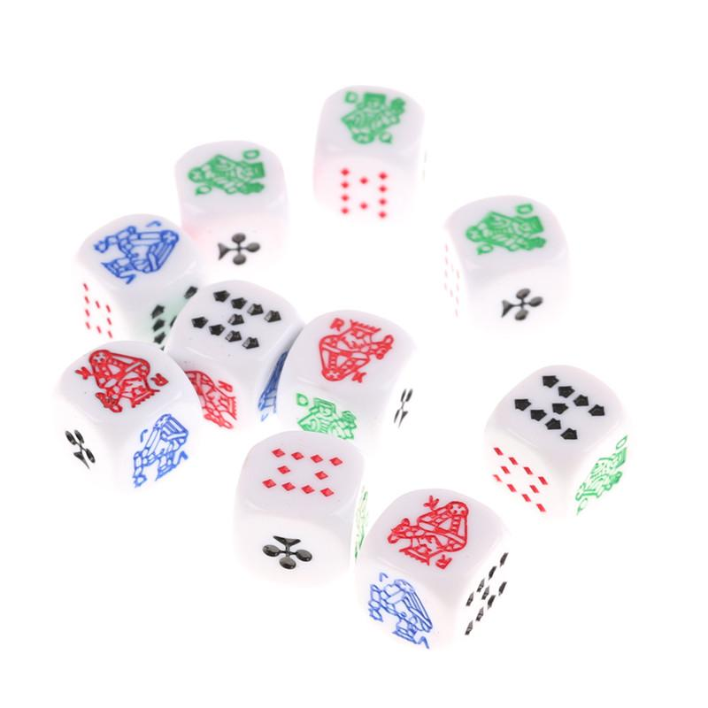 20Pcs 12mm Opaque Six Sided Spot Dice Games D6 RPG Playing Toys SU