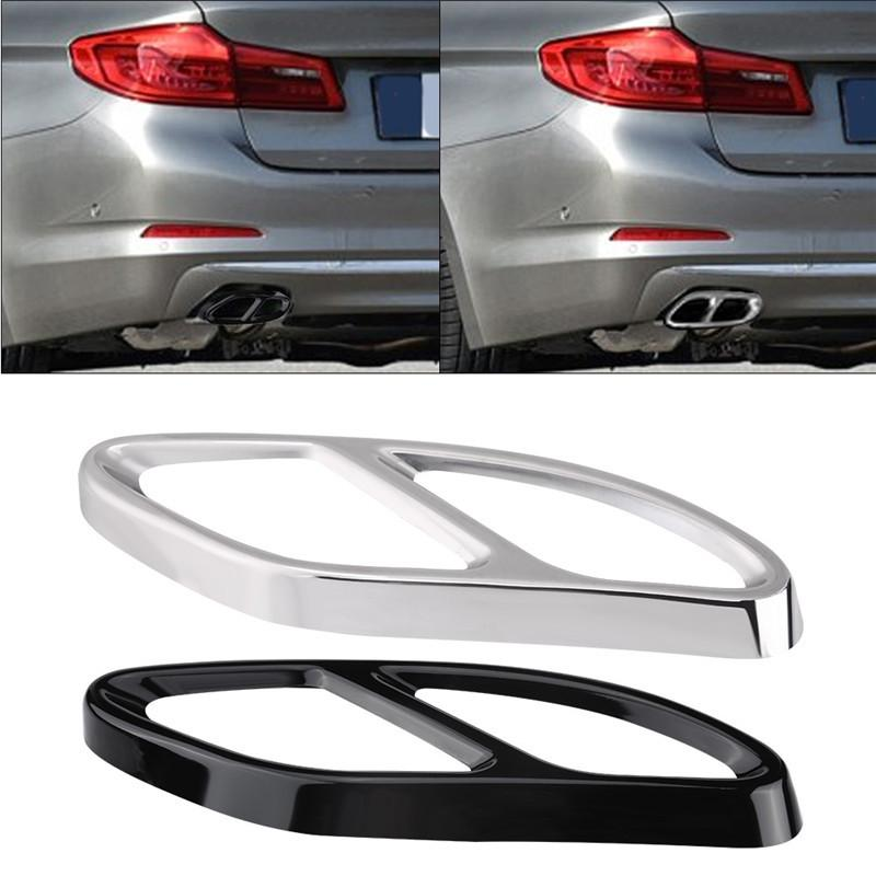 Exhaust Pipe Covers-1 Pair Exhaust Tail Pipe Cover Trims Black for Mercedes Benz GLC C E-Class C207 Coupe 14-17 Color : Black