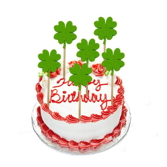 Superb Shamrock 10Pcs Birthday Supplies Cake Toppers Safe Buy At A Low Birthday Cards Printable Trancafe Filternl