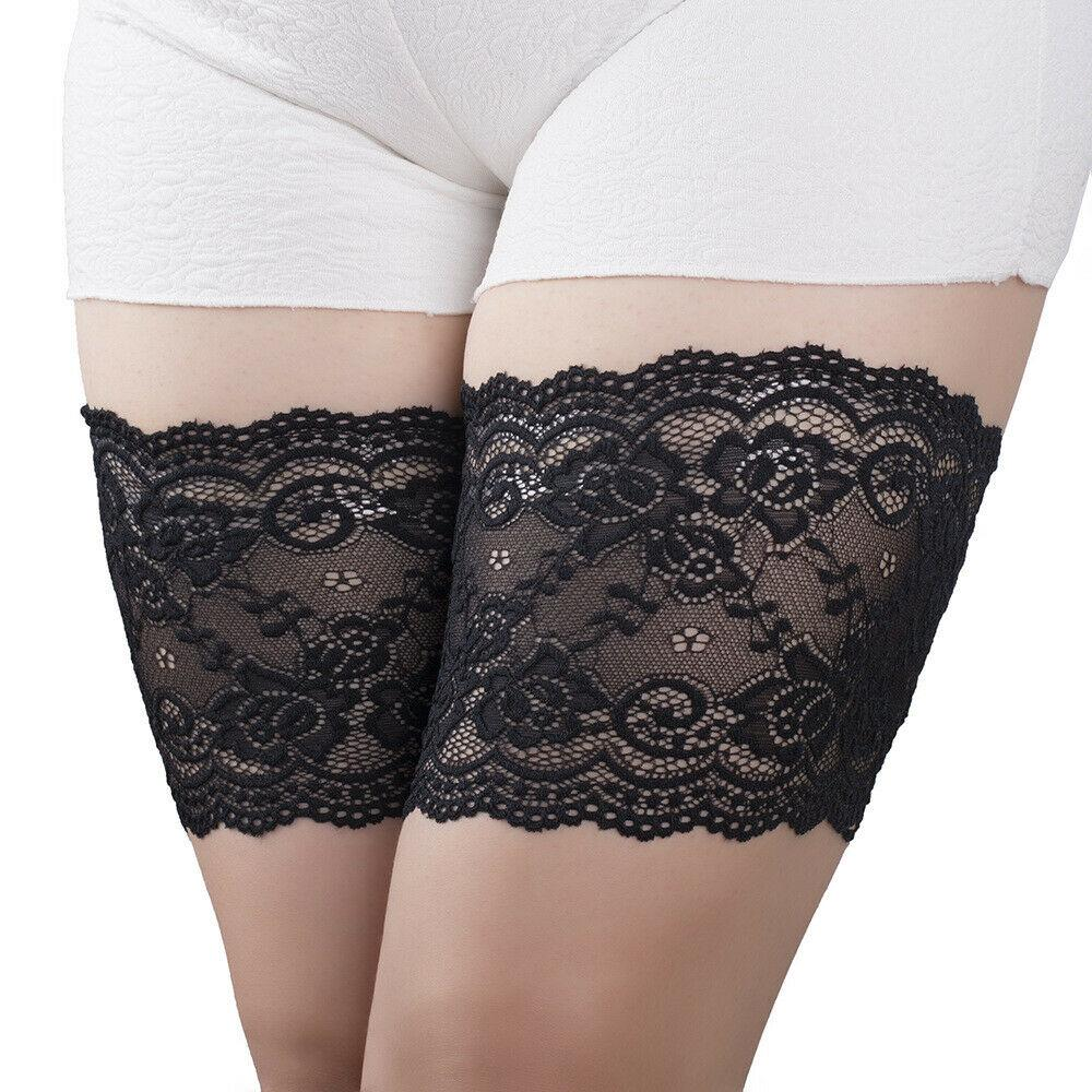 Slip Shorts for Under Dresses Women Elastic Anti Chafing Thigh Bands Underwear Lace Panty
