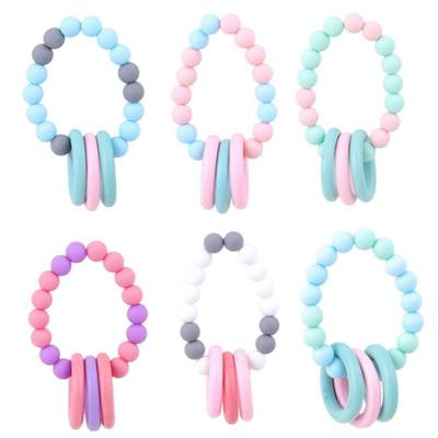Wooden Silicone Teething Beads Kit DIY Baby Chew Jewelry Necklace Teether Making