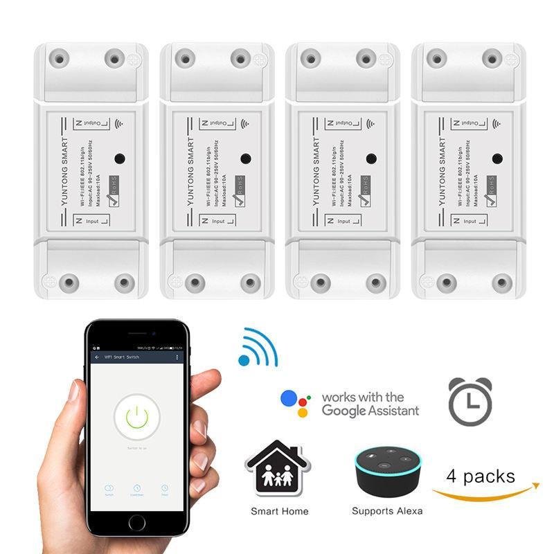 Für Smart Leben App Telefon Fernbedienung Kompatibel Für Alexa Google Assistent Dimmbare Wifi Schalter Uns Stecker Wand-in Smart Switch Dimmer Beleuchtung Zubehör