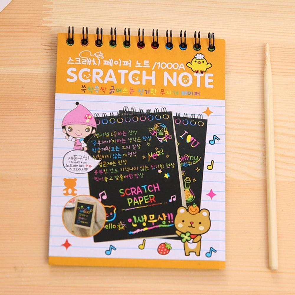 Kids Graffiti Drawing Notebook With Pen Scratch Paper Notes Craft Stationery