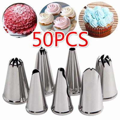 16Pcs Cake Decorating Nozzles Tips Pastry Cupcake Sugarcraft /& Icing Piping Bag GLOGLOW White