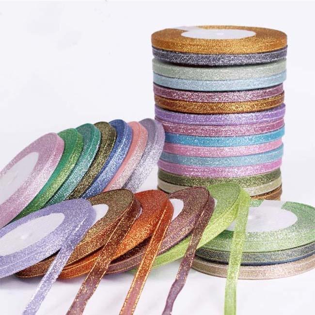5 mm métallique Parti argent or rose Curling rubans Roll Party Décoration Ruban