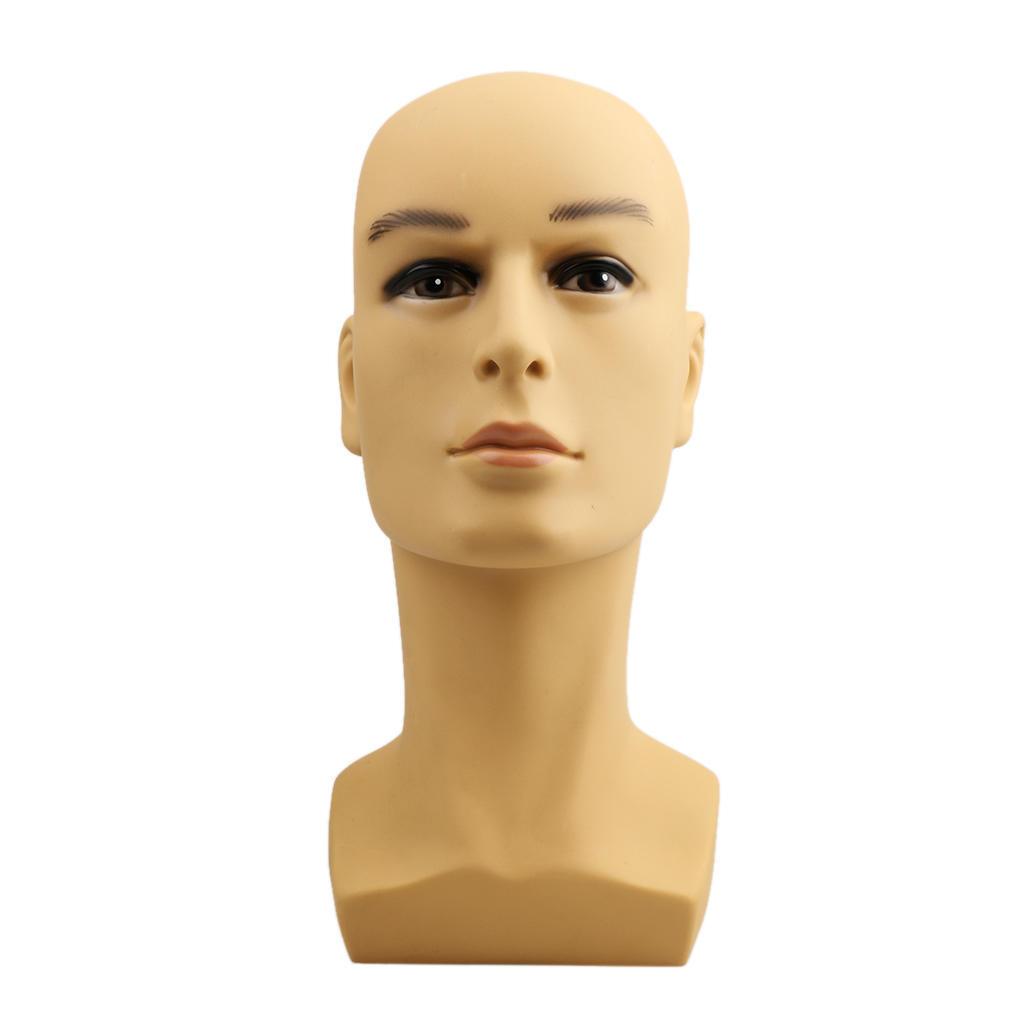 Cabeza de maniquí de hombre sombrero peluca bufanda auriculares ... 92342c7623a