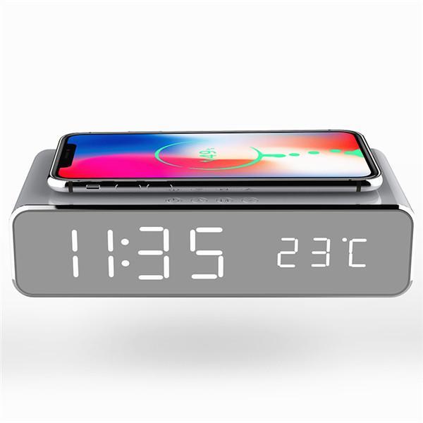 Chargeur Integrée Port Usb Téléphone Horloge Reveil Numerique