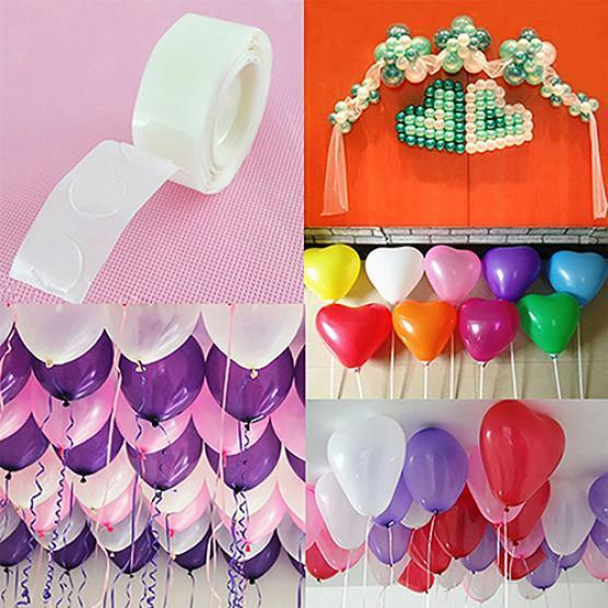 100 Sticky Dots Double Sided Glue Adhesive DIY Wedding Party Balloon Decoration