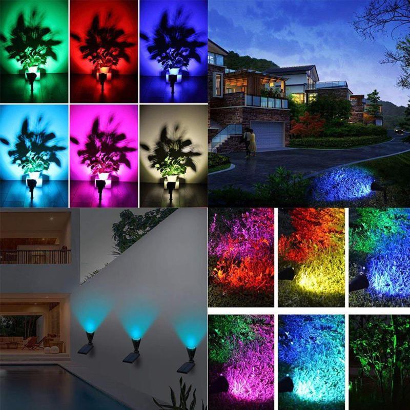 7 Led Solar Garden Spotlights, Outdoor Spot Lights Garden