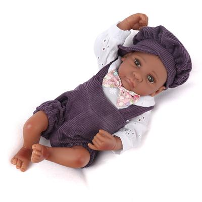 Cute Handmade Reborn Newborn Mini Baby Doll Full Soft Silicone Vinyl Bath Boy-US